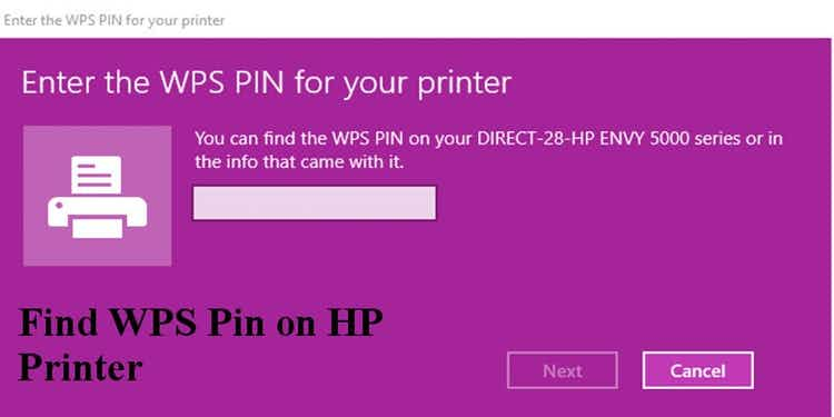 How to find wps pin
