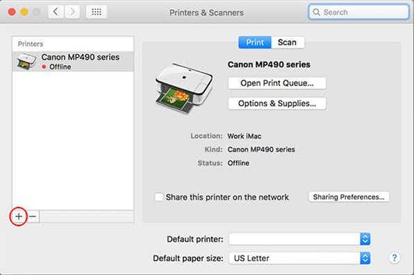 Add printer to MAC