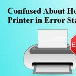 What is printer in error state