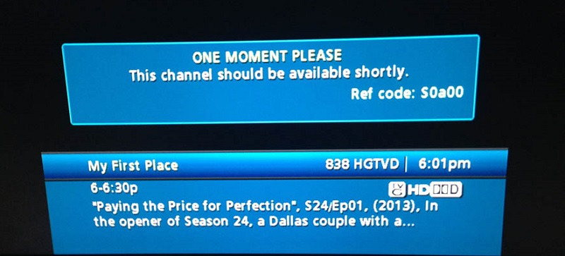 Comcast REF Error Code S0a00 - One Moment Please